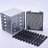 HONUTIGE HDD Hard Drive Cage Rack, gran capacidad de acero inoxidable de 5,25 a 5 x 3,5 pulgadas SATA SAS HDD Cage Rack, bandeja para conductor duro con espacio de ventilador