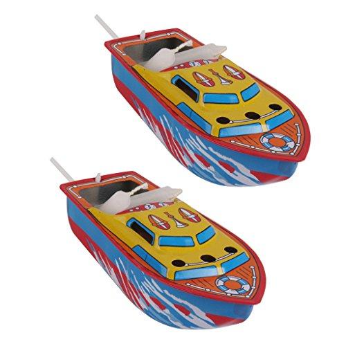 Baoblaze Dampfschiff Metall Kerzenboot Dampfboot Boot Sammlerstück 2er Pack