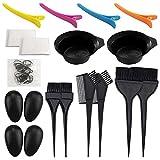 21 Packs Hair Dye Coloring Kit, Sonku Dye Brush Comb Mixing Bowl Ear