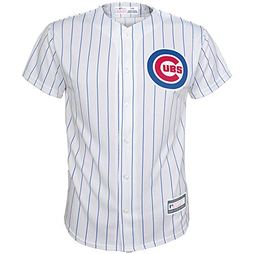Outerstuff MLB 8-20 Youth Blank Cool Base Home Color Team Jersey (Medium 10/12, Chicago Cubs)