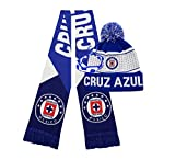 Icon sports Cruz Azul Scarf and Beanie hat Cap Futbol Club Logo 2020 2021 Official Soccer Gear and Bracelet C3 (Cruz Azul Set 1)