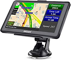 AWESAFE GPS Navi Navigation für Auto LKW PKW KFZ Navigationsgerät 7 Zoll Lebenslang Kostenloses Kartenupdate 2020 Europa...