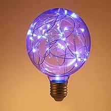 OSALADI LED Edison flikkerende gloeilamp Sterrenlamp Fee 220 V G95 LED Gloeilamp decoratieve fonkelende Sterren Glas Strin...