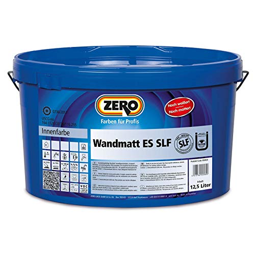 ZERO Wandmatt ES SLF Plus weiß 5 l Doppeldeckende Einschichtsfarbe für Innen