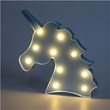 Schattige LED-nachtlampjes, sfeerlicht, bureaulampen, babykamer, kinderkamer, decoratie, geschenken (eenhoorn2, blauw)
