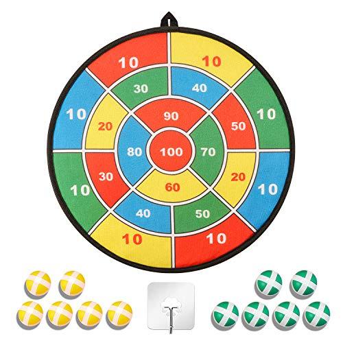 SZ-Climax Dart Brettspiel für Kinder - 12 Stück Dart Sticky Balls - Sicheres Spiel für drinnen und draußen, klassisches Spielzeuggeschenk für Jungen, Mädchen ab 3 Jahren, 14 Zoll
