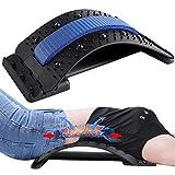 KITEOAGE Dispositivo de Estiramiento Lumbar, Alivia el Dolor de Espalda Dolor Muscular Camilla de Espalda Corrector de Postura(Negro + Azul)