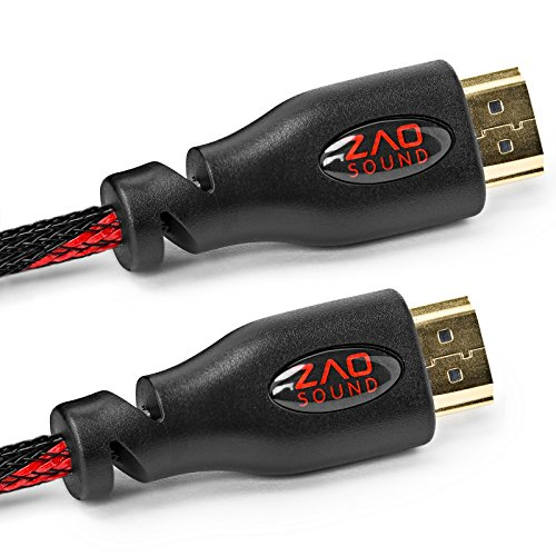 BAM 3 Pack High Speed 4K HDMI Cables - 10' Long