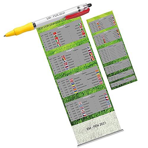 EM-Pen Kugelschreiber mit ausziehbarem Spielplan - Ideal für unterwegs