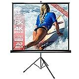 Alphavision SlenderLine Mobile Stativleinwand 180 x 180 cm (255cm Bilddiagonale / 100 Zoll) Beamer...