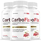 (3 Pack) Carbofix Weight Loss Supplement Pills Tea Reviews Gold Solo Vida Carbo Fix (180 Capsules)