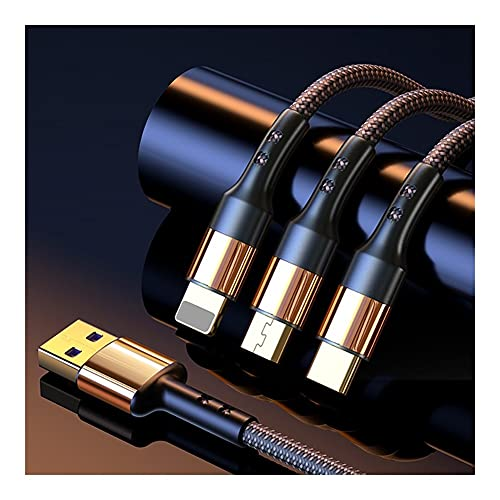 LLRZ Teléfono 3 en 1 Cable de carga Tipo C Micro USB Conector Multi Cable de carga Compatible Teléfonos Celulares Tabletas Uso Universal (2m) Accesorios