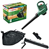 Bosch Home and Garden Soffiatore/aspiratore elettrico UniversalGardenTidy 3000 (3000 W, sacco di raccolta da 50 l, velocità variabile, per soffiare, aspirare e triturare foglie, confezione in cartone)