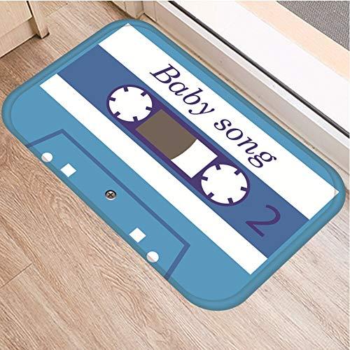 OPLJ Cinta de cassette para el suelo, antideslizante, alfombra para puerta de baño, cocina, entrada, decoración del hogar, alfombra A15, 40 x 60 cm