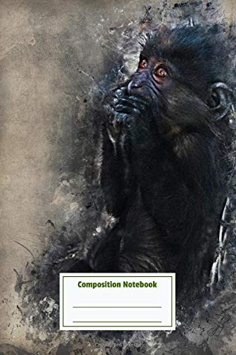 Composition Notebook: Gorilla Pretty Personalized Diary for Writing & Note Taking