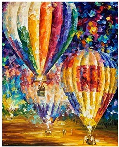 SKGZT Pintura por número Sala de Estar Regalo único decoración del hogar Pintura al óleo Globo DIY Arte decoración DIY Arte de la Pared 40x50cm Sin Marco
