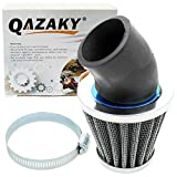 43mm air filter - QAZAKY 41mm 42mm 43mm 1.65inch Air Filter Cleaner 45 Degree Angled for 125cc-150cc 200cc 250cc Motorcycle ATV Quad Scooter Gokart Moped Chopper Pit Dirt Pocket Mini Super Bike GY6 PZ24 PZ30 CG 1.65in