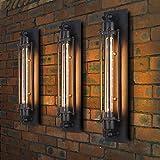 3 x Modern Industrielle Metall Rohr Wandlampe Deckleuchte, MOTENT Vintage 17,72' Höhe Wandleuchte...