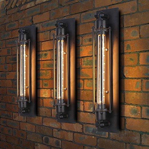 """3 x Modern Industrielle Metall Rohr Wandlampe Deckleuchte, MOTENT Vintage 17,72"""" Höhe Wandleuchte Water Pipes Steampunk Design Querflöte-Art Beleuchtung für Haus Deko Zimmerdecke"""