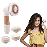 Lifelong LLM126 Electric Portable Face Cleanser and Massager Brush with 4 Brush Heads for Deep...