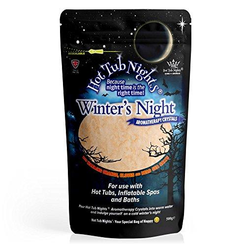 Hot Tub Nights Cristaux d'aromathérapie de la nuit d'hiver.