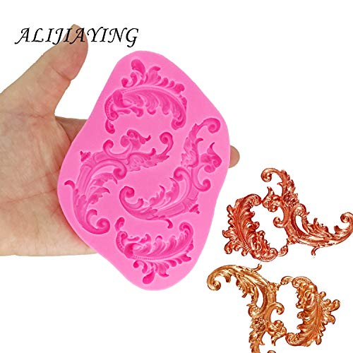 Fantastic Deal! Rovtop DIY Embossed pattern lace Cake border Silicone Molds Gumpaste Chocolate Fonda...