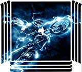 Dirt Bike Dirtbike Electric Lightning Trick Vinyl Decal Sticker Skin by Moonlight4225 for Playstation 4 (PRO) PS4 Pro Console