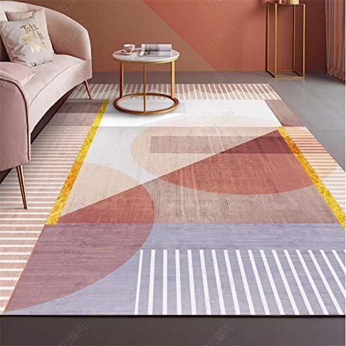 Alfombra nórdica sala de estar sofá alfombra moderna simple dormitorio estera habitación-02,140x200cm, China