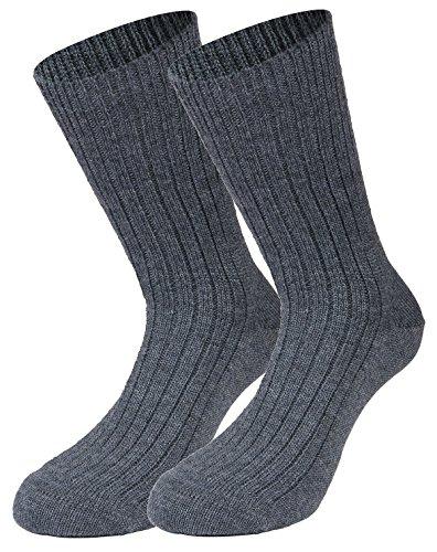 Tobeni 1 Paar Herren Bundeswehrsocken Arbeitssocken Army Socken Kurz Wolle Farbe Grau Grösse 44-45
