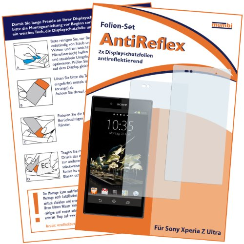 mumbi Schutzfolie kompatibel mit Sony Xperia Z Ultra Folie matt, Bildschirmschutzfolie (2X)