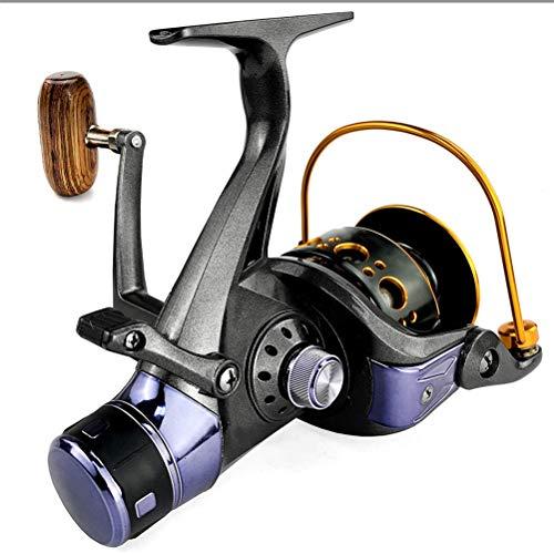 RongWang Carrete De Pesca con Doble Freno Potente Carrete De Pesca Giratorio Carrete De Curricán, Carrete De Metal, Cambio De Izquierda A Derecha (Spool Capacity: : 5000 Series)