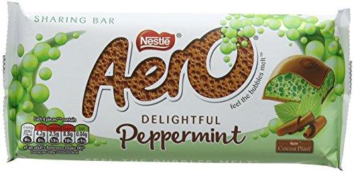 Aero Peppermint Chocolate Sharing Bar, 100 g, Pack of 15