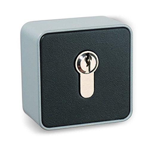 BAUER - Schlüsselschalter auf Putz, 1 seitig, Metallgehäuse, Tor, Garage, Antrieb, Taster, Schalter
