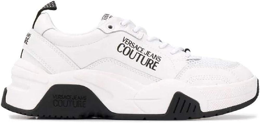 Versace jeans couture scarpe sneakers da donna in pelle e tessuto