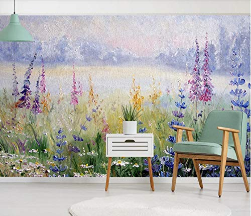 SHANGZHIQIN 3D Photo Wallpaper Embossed Murals Wallpapers for Living Room, Flowers and Plants Nordic Rural Style