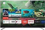 TCL U49C7006 - Televisor de 49 pulgadas con 4K Ultra HD, Smart y Android TV con HDR Premium, Wide Color Gamut y JBL by HARMAN, Aluminio Cepillado