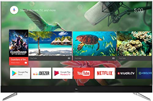 TCL U49C7006 - Televisor de 49 pulgadas, Smart TV con 4K UHD, HDR Premium, Wide Color Gamut, Android TV y JBL by HARMAN, Aluminio Cepillado