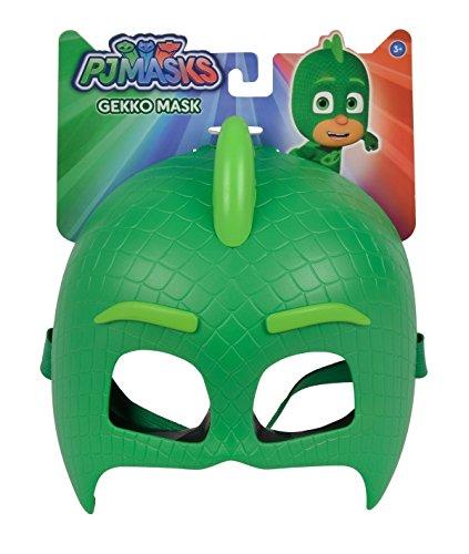 Simba  109402091 - PJ Masks Maske Gecko / mit elastischem Gummiband / zum Verkleiden/ grün / 20cm, für Kinder ab 3 Jahren