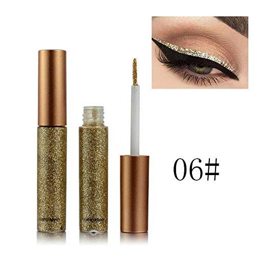 BOBORA Essential Sektion Glitzer und Schimmer Wasserdichte Eyeliner Metallic Pigment Gold Silber Glitzer Liquid Eyeliner