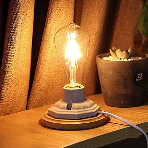 Lamp LU de Table American Country Personnalité Chevet Café Bureau Lumière