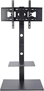 UNHO Floor TV Stand Base with Height Adjustable TV Mount for 32-65 inch Plasma LCD LED Flat Screen TVs and Internal Cable ...