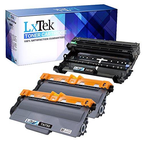 LxTek Compatible Toner Cartridge and Drum Unit Replacement Set for TN750 DR720 (2 Toners|1 Drum) 3 Pack for Use with Laserjet HL-5440D HL-5450DN HL-5470DW HL-5470DWT HL-6180DW