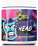 Chaos Crew Stim Head Hardcore PreWorkout Booster Trainingsbooster Bodybuilding 207g (BlueBerry Lemonade) -