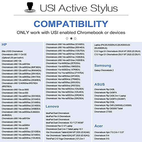 TiMOVO USI Stylus Stift Kompatibel mit Chromebook, 4096 Druckstufen Eingabestift Palm Rejection Chromebook Duet, HP Chromebook x360 12b/14c, Chromebook Flip C436/C536/CX5, Galaxy Chromebook, Grau - 2