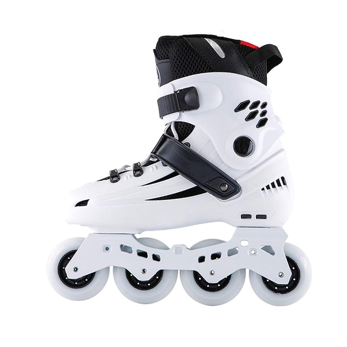 ラッカスなので抱擁ZHANGHAIMING インラインスケート、大学生の単列スケート、成人男性と女性の初心者スポーツスピードスケート靴、ホワイトブルー (Color : White, Size : EU 36/US 4.5/UK 3.5/JP 23cm)