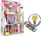 Leomark New Royal Mansion Doll Apart House Casa delle Bambole Sogno Mansion in Legno Plus Illuminazione a LED