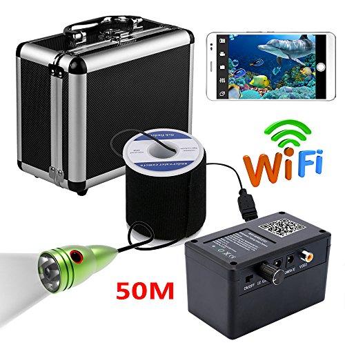 JINPENGPENG HD WiFi, cámara de Pesca submarina inalámbrica, grabación de Video iOS Android App es Compatible con grabación de Video y Foto, cámara 1000TVL,20M