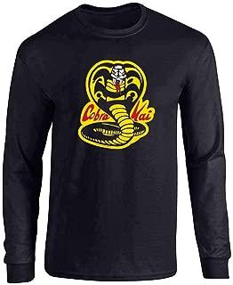 Cobra Kai Costume The Karate Kid Retro Martial Art Full Long Sleeve Tee T-Shirt