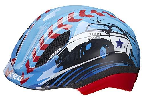 KED Meggy Trend XS Police - 44-49 cm - inkl. RennMaxe Sicherheitsband - Fahrradhelm Skaterhelm MTB BMX Kinder Jugendliche