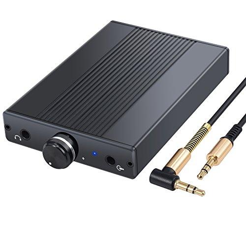 Hörlursförstärkare, Hi-Fi-förstärkare med 3,5 mm uttag kontakt, bärbar, uppladdningsbar, headsetförstärkare för MP3-spelare, iPods, personliga mediaspelare, mobiltelefoner, bärbara CD-spelare